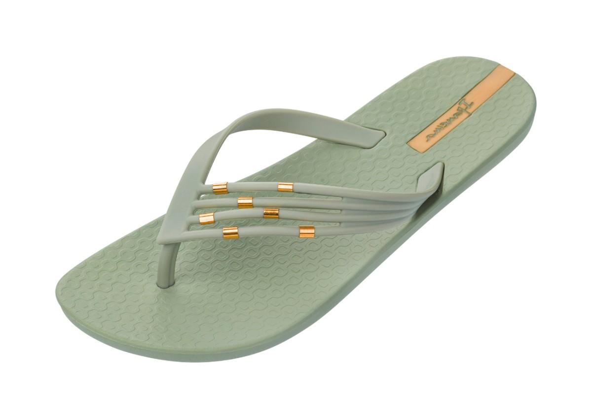 29fe25f736f2 Ipanema Premium Sunset Pistachio Green Gold Flip Flops - KissShoe