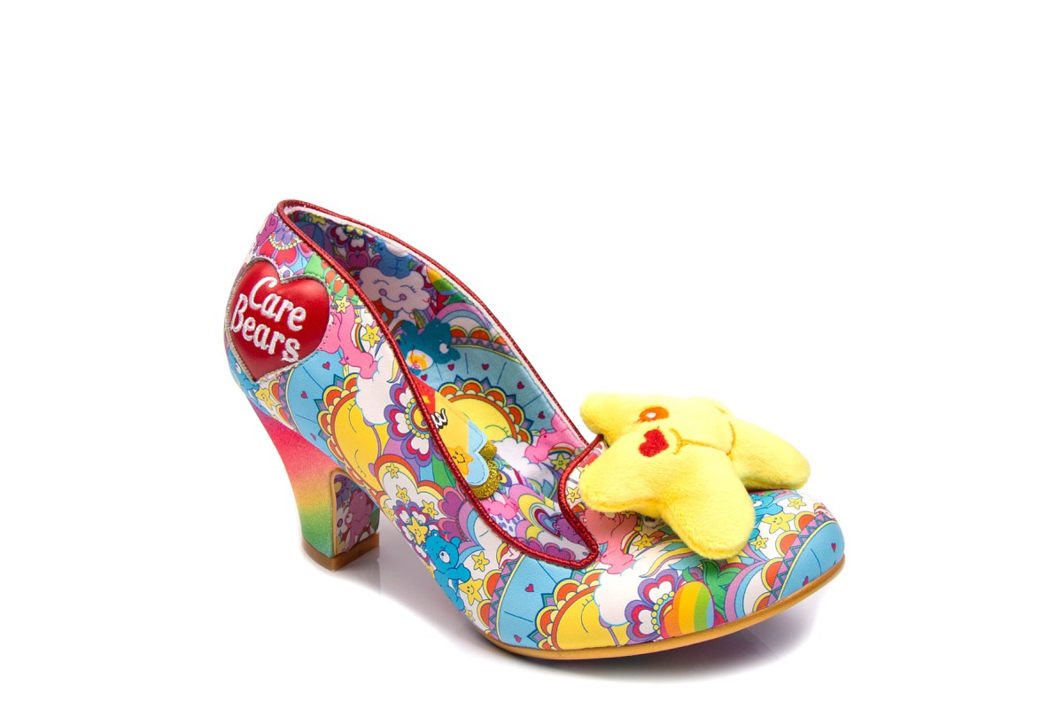 Irregular Choice Care Bears Wishing Star Glitter High Heel Shoes