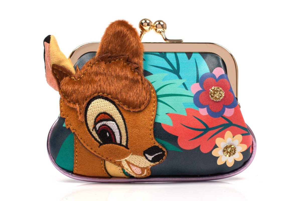 Irregular Choice Disney Bambi Darling Deer Black Green Floral Purse