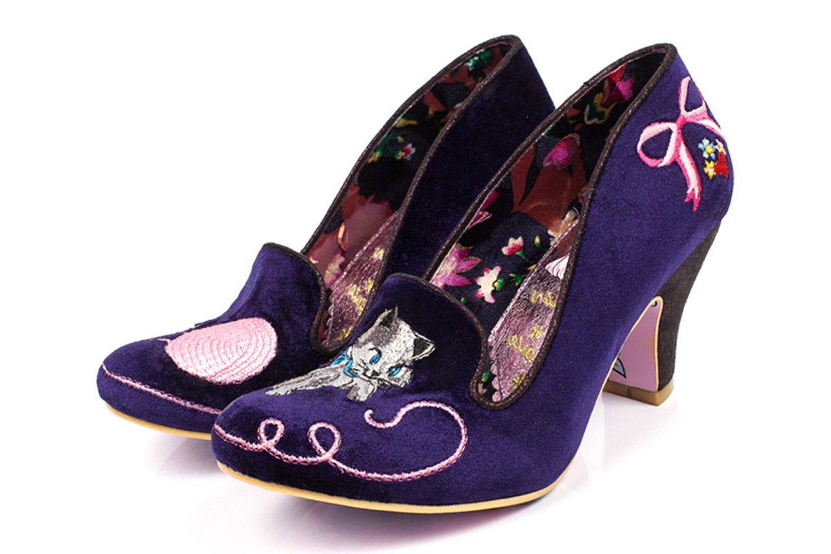 38caadb450b4 Irregular choice fuzzy peg purple velvet high heel cat shoes kissshoe jpg  1200x800 Cat high heel