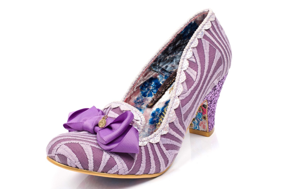 Irregular Choice Kanjanka Lilac Purple Mid Heel Shoes