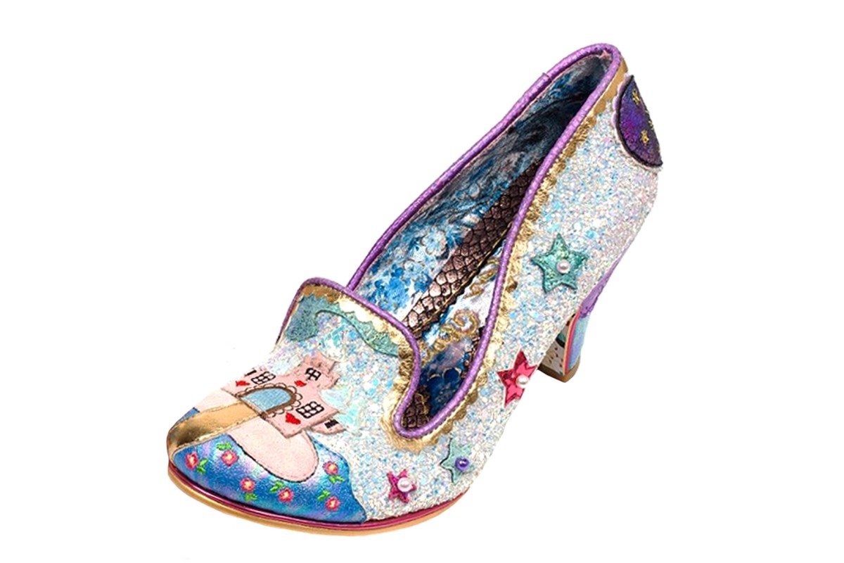 Irregular Choice Little Misty White Glitter Mid Heel Unicorn Shoes