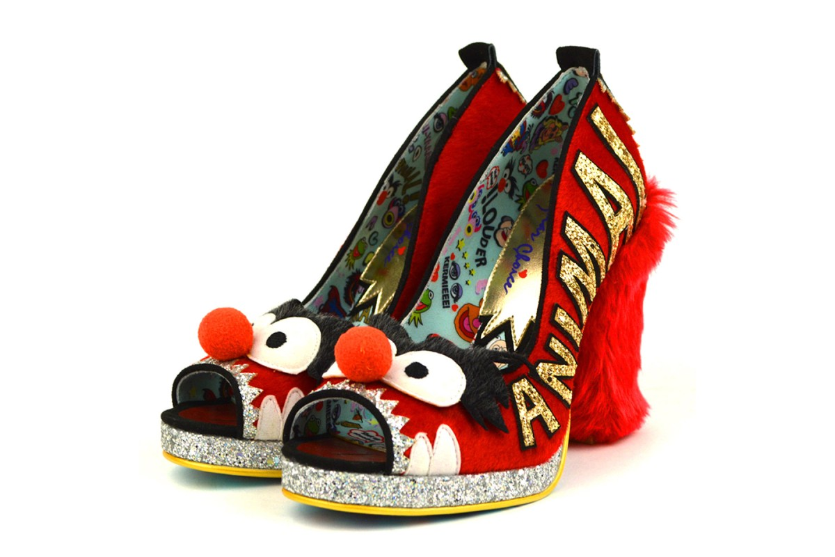 Irregular Choice Muppets Louder Louder Red Animal Furry High Heel Shoes