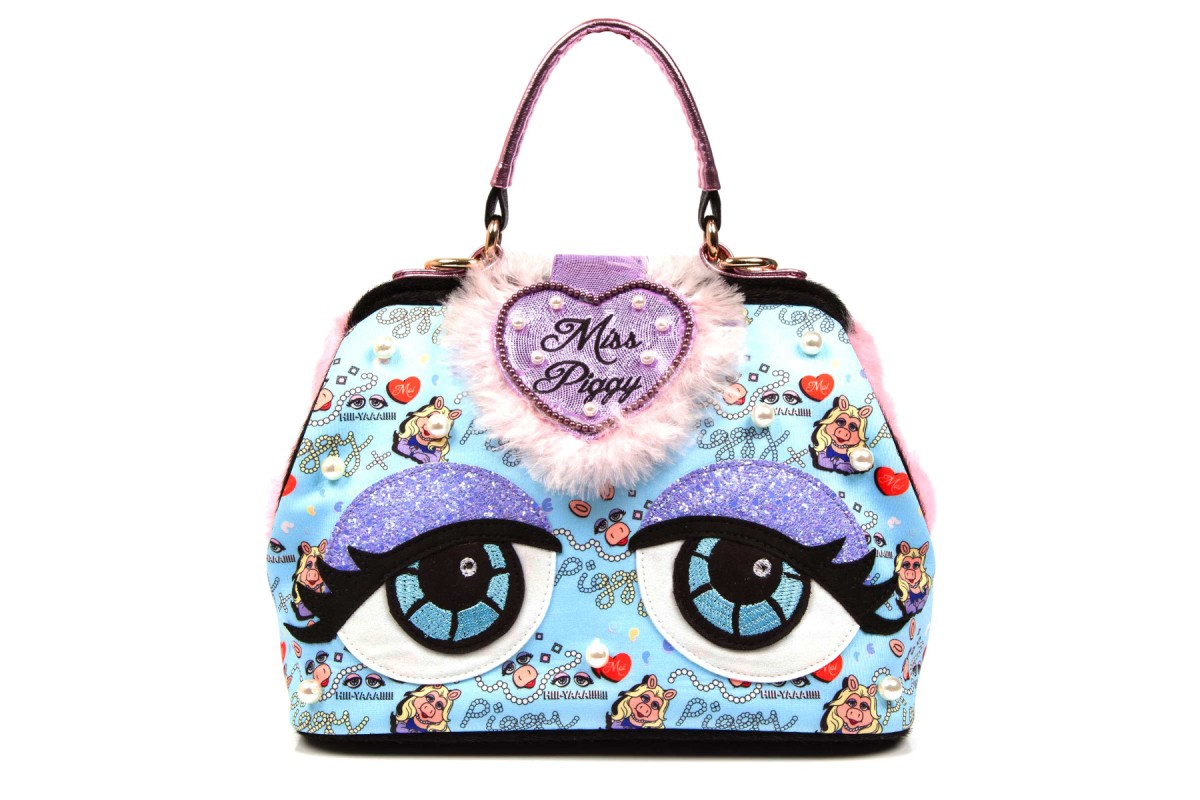 Irregular Choice Muppets Who? Moi? Blue Pink Purple Miss Piggy Bag