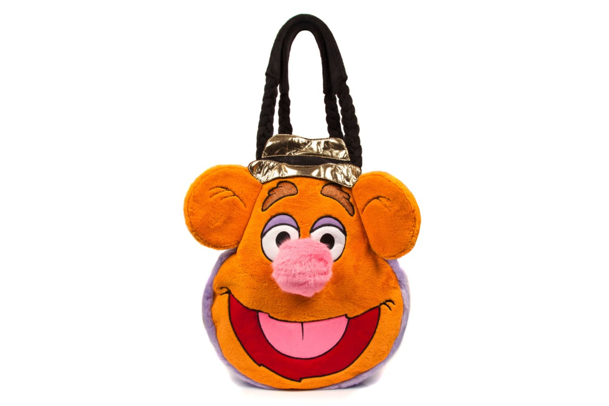 Irregular Choice Muppets Wocka Wocka Fozzie Bear Orange Faux Fur Large Shoulder Bag