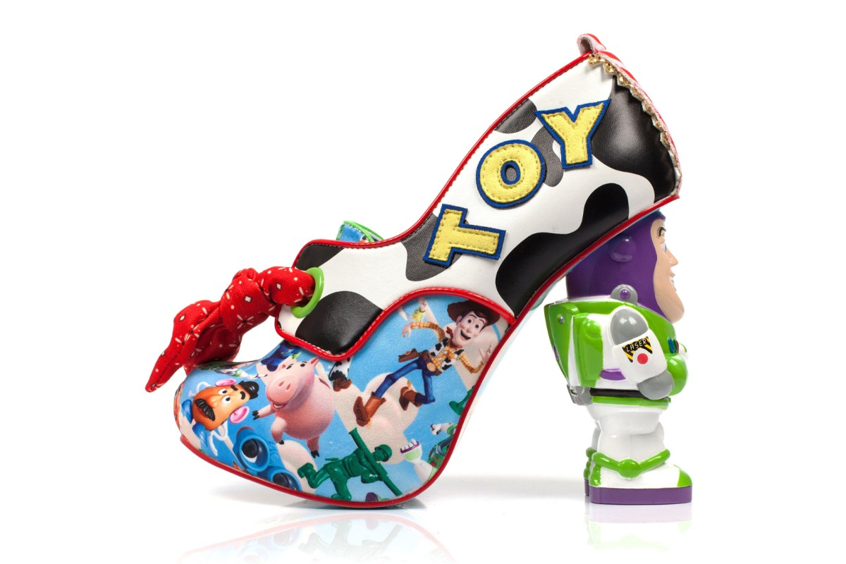 Irregular Choice Toy Story You've Got A Friend In Me Buzz Lightyear Woody Character High Heel Shoes