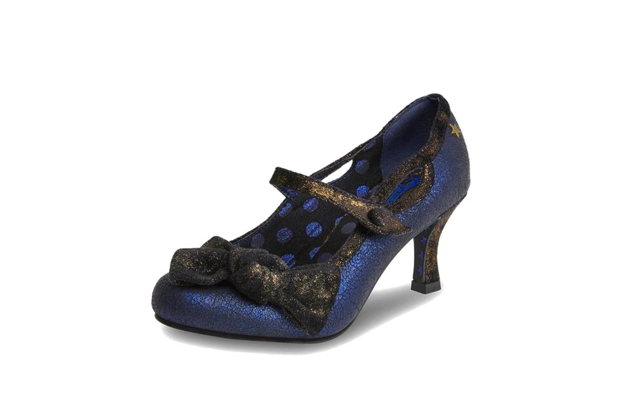 c340352fb5b Joe Browns Jezabel Navy Blue Metallic Brown Mary Jane High Heel Shoes -  KissShoe