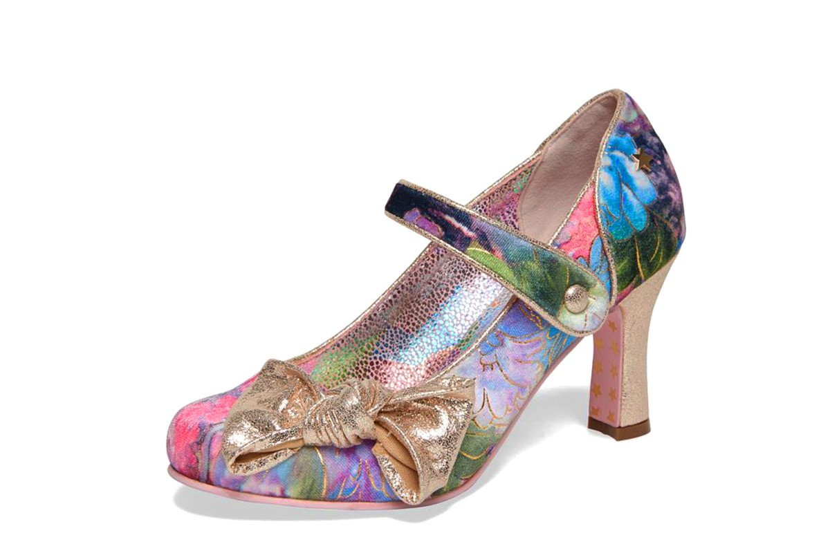 Joe Browns Delilah Multi Colour Floral Mary Jane High Heel Shoes