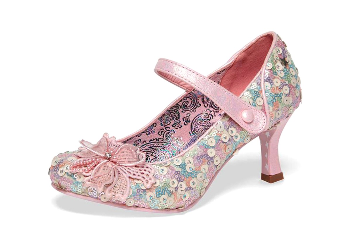 Joe Browns Katherina Pink Sequin High Heel Mary Jane Shoes