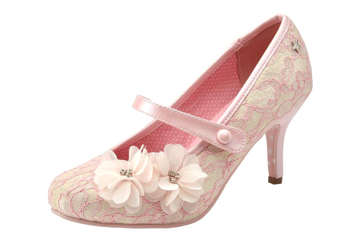 joe browns louisa pale pink lace high heel