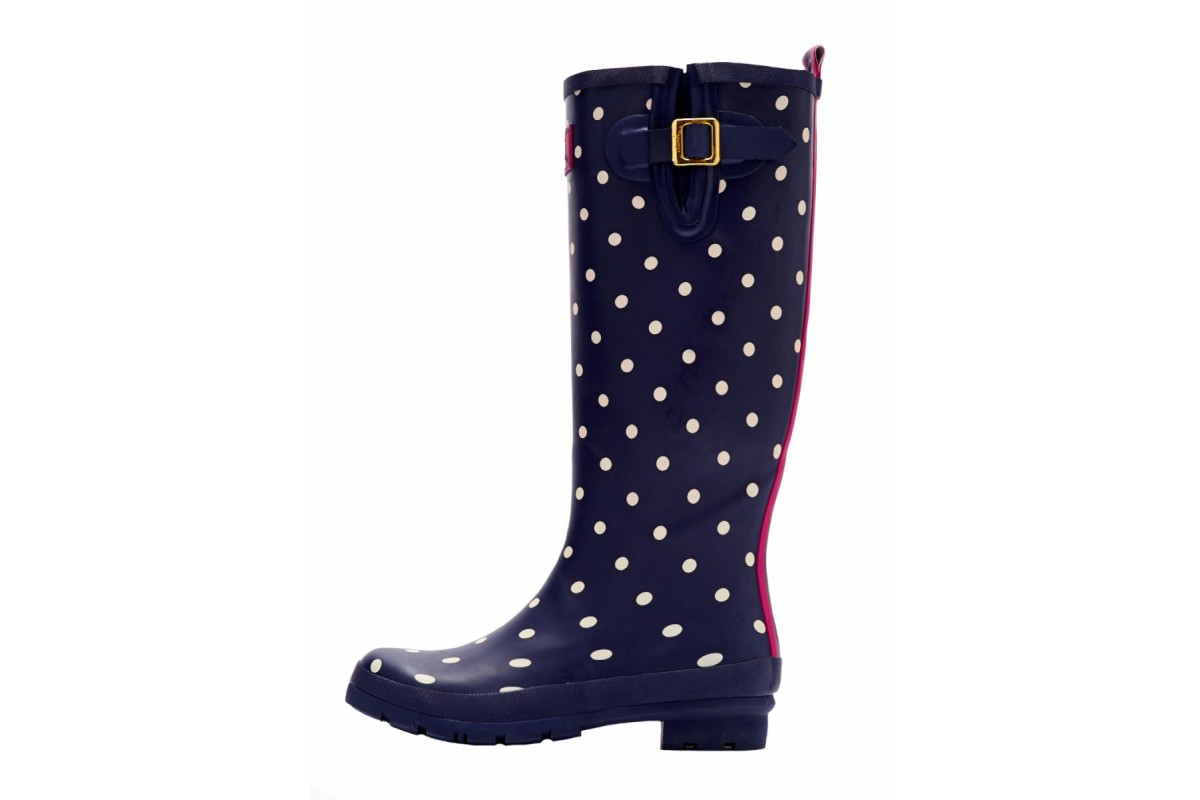 Joules Welly Print Navy Spot Women's Wellies