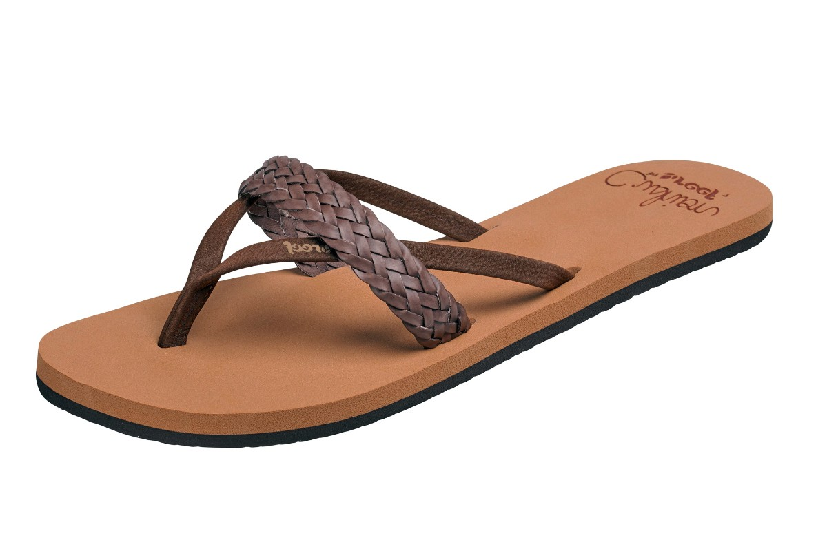 Reef Cushion Wild Brown Braided Women's Flip Flops