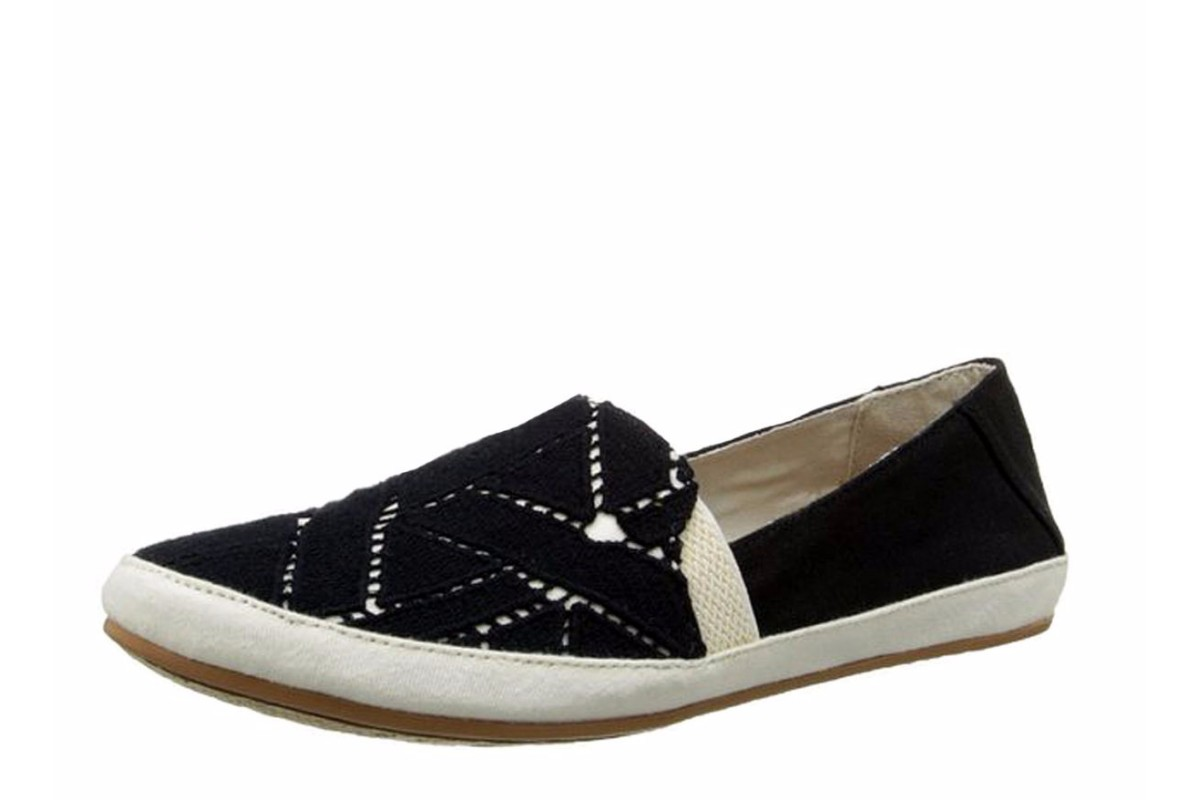 Reef Shaded Summer TX Black White Women's Canvas Flat Shoes