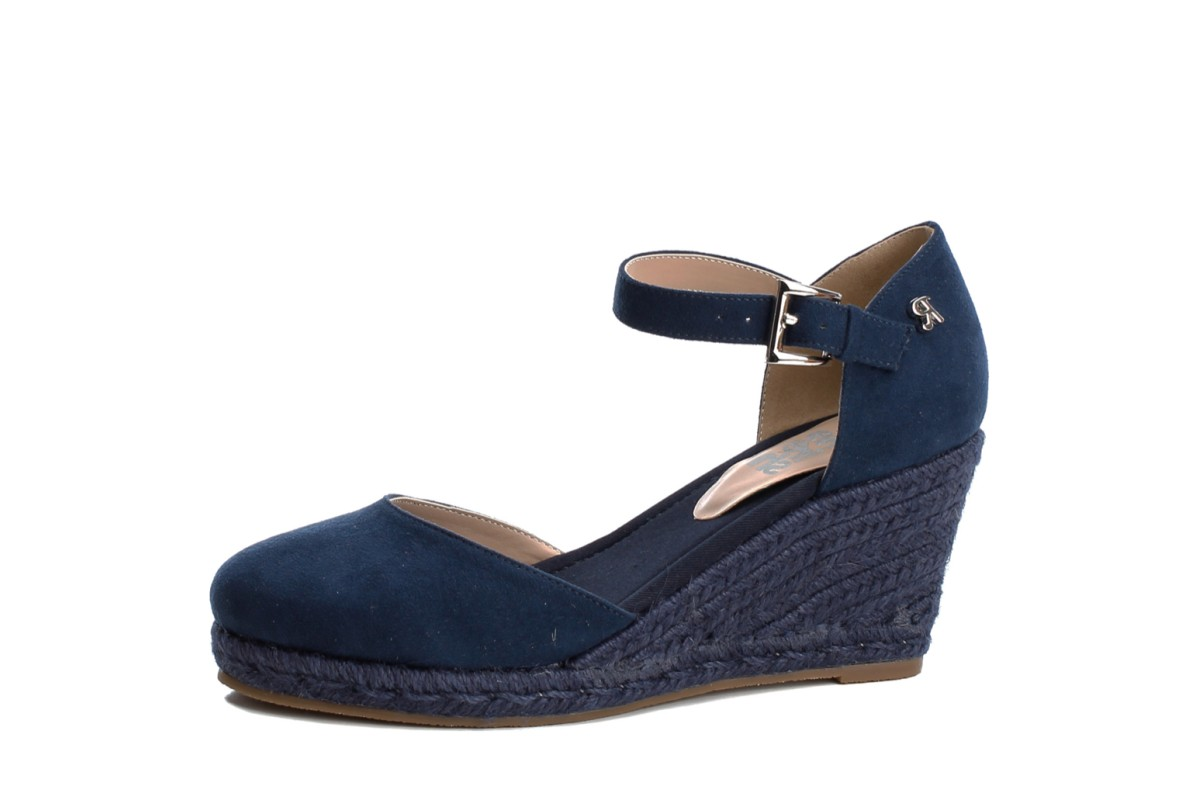 KissShoe High Refresh Wedge Blue Heel 69730 Navy Espadrille Shoes gyvY7b6f