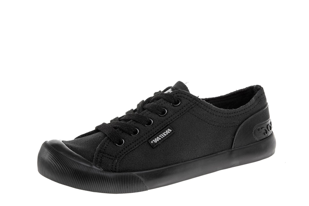 Rocket Dog Jazzin Fable Black Fabric Low Top Trainers