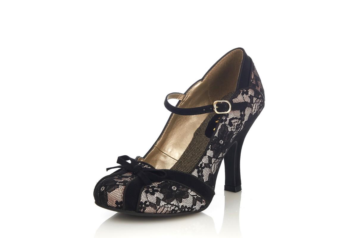 Ruby Shoo Shoo Shoo Cleo Lace schwarz Floral High Heel Mary Jane Schuhes KissSchuhe 873e40