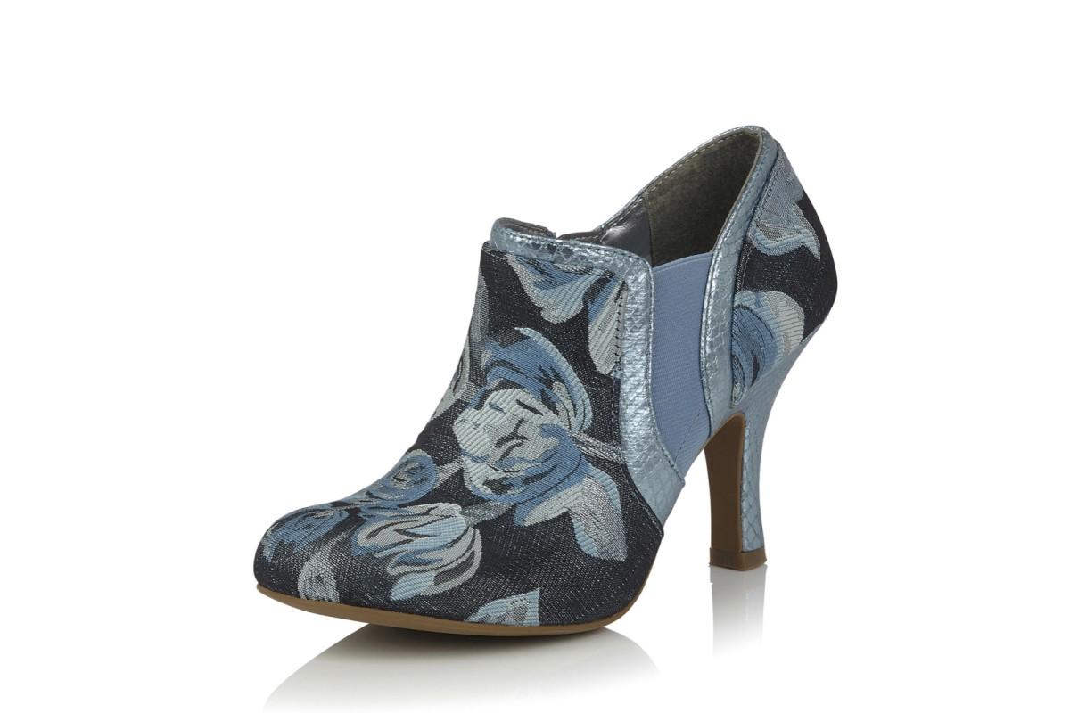 Sky Juno Shoe High Shoo Heel Blue Navy Floral Boots Ruby 1JlcTFK