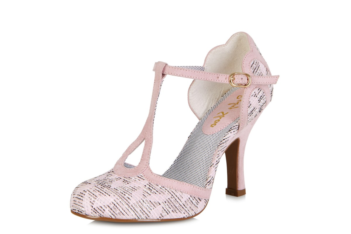 Ruby Shoo Polly Pink High Heel T Bar Sandals