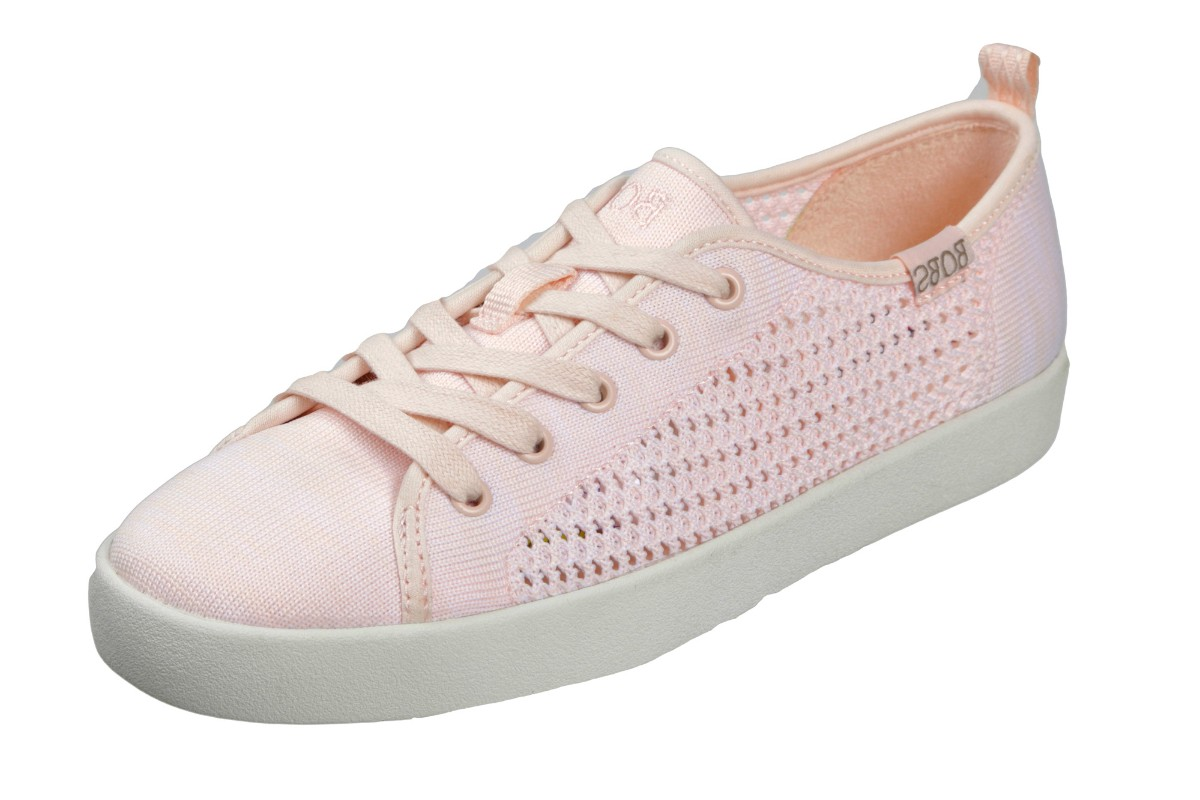 Skechers Bobs B Loved Spring Blossom Light Pink Lace Up Memory Foam Trainers