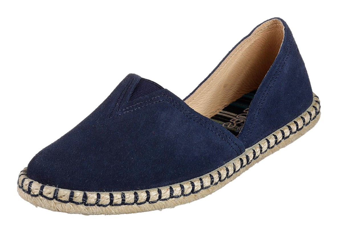 Skechers Bobs Day To Night Navy Suede Memory Foam Espadrille Shoes