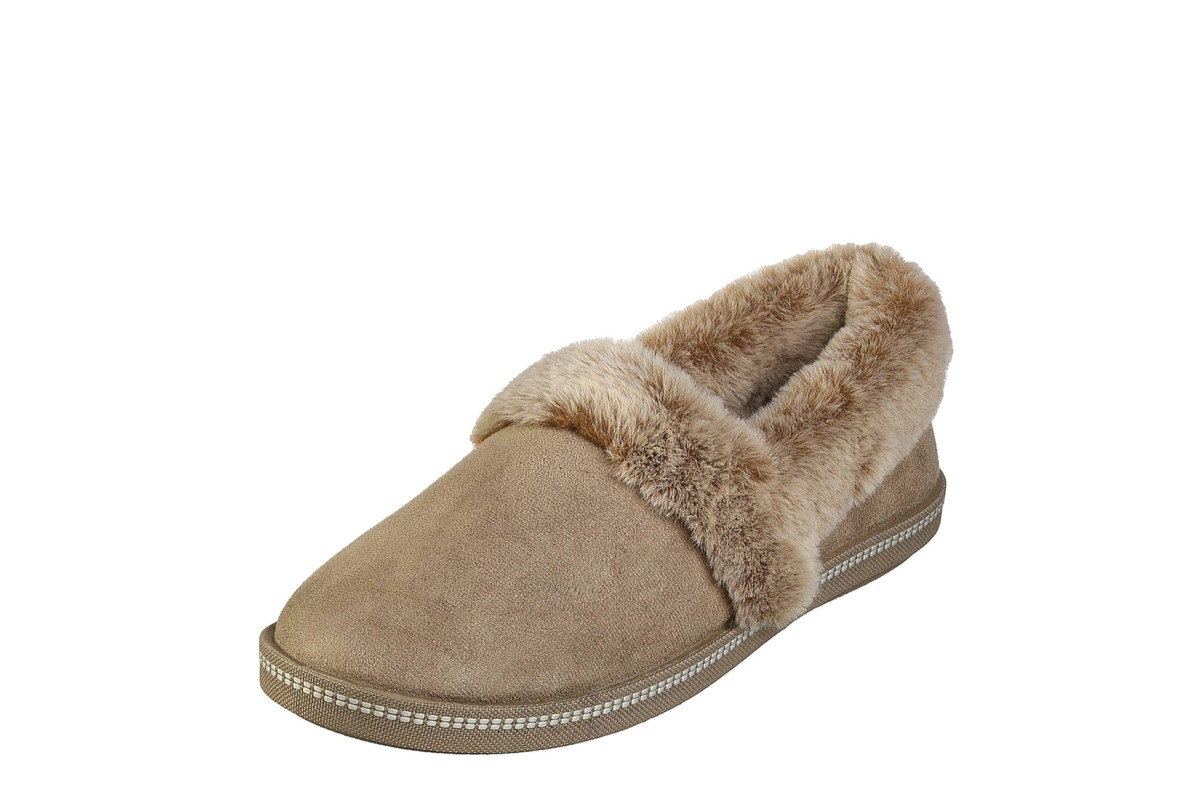 Skechers Cozy Campfire Team Toasty Dark Taupe Brown Faux Fur Memory Foam Slippers