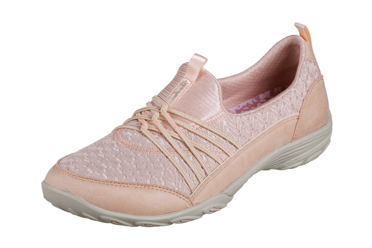 aa952581644 Skechers Empress Wide Awake Pink Slip On Memory Foam Trainers - KissShoe