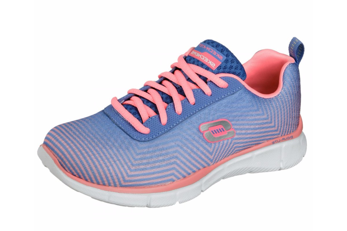 Skechers Equalizer Expect Miracles Periwinkle Pink Womens Trainers