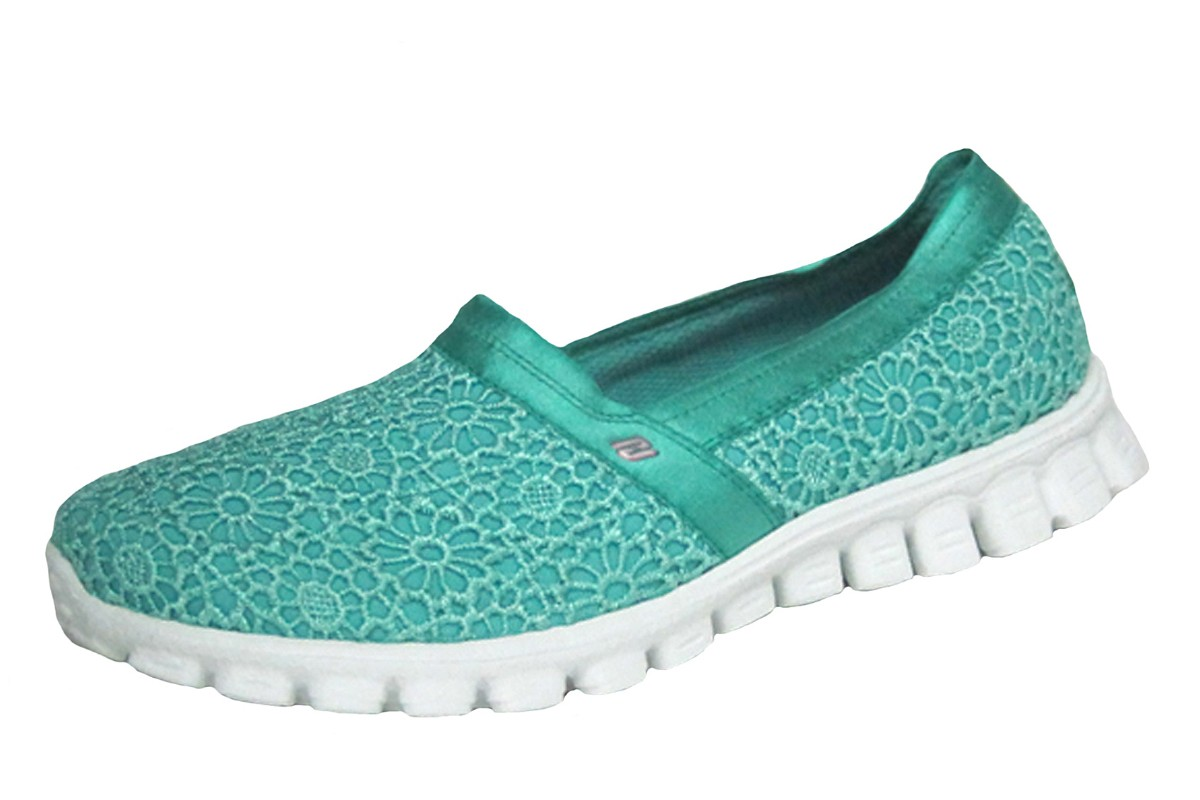 Skechers EZ Flex 2 Make Believe Mint Green Memory Foam Flat Shoes