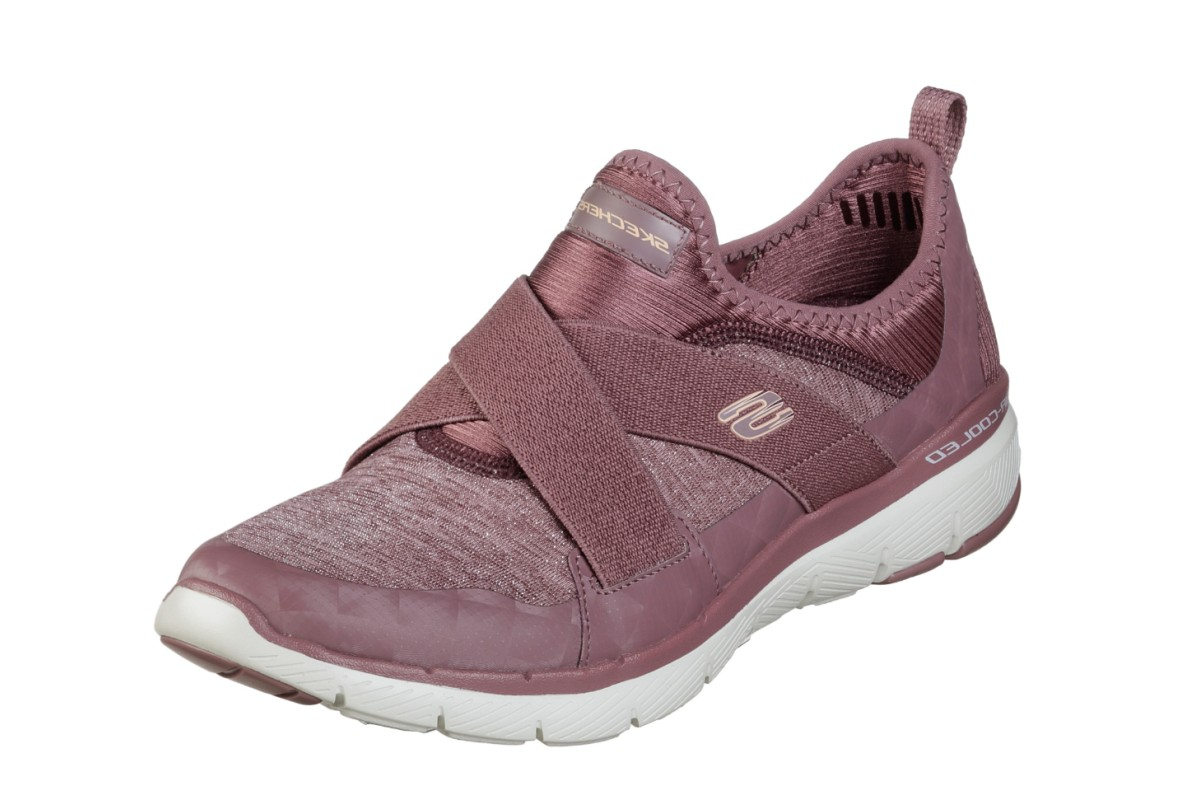Skechers Flex Appeal 3.0 Finest Hour Mauve Purple Memory Foam Trainers