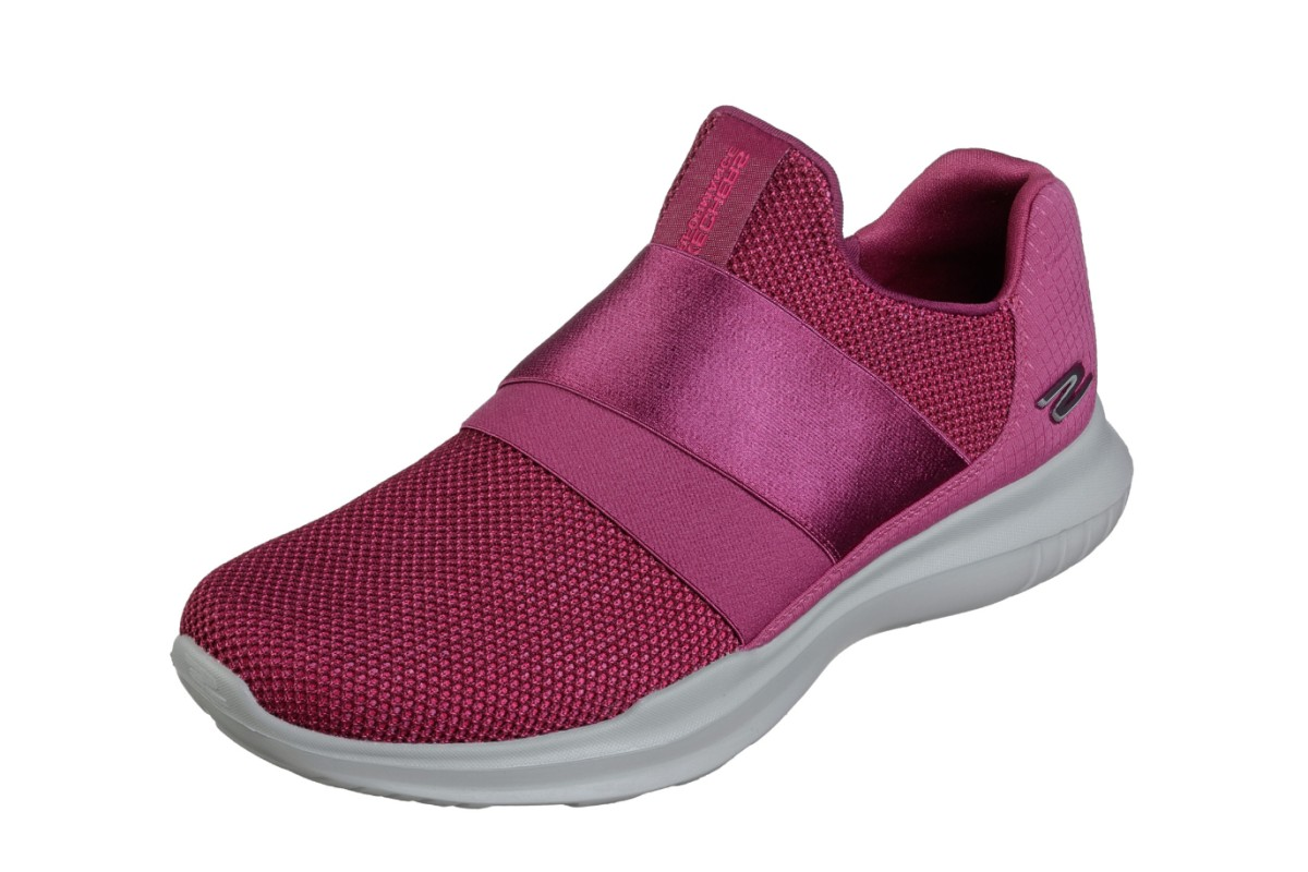 64d826fb7a57 Skechers Go Run Mojo Mania Pink Slip On Trainers Shoes - KissShoe