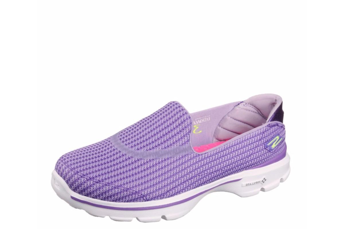Skechers Go Walk 3 Women's Purple Slip