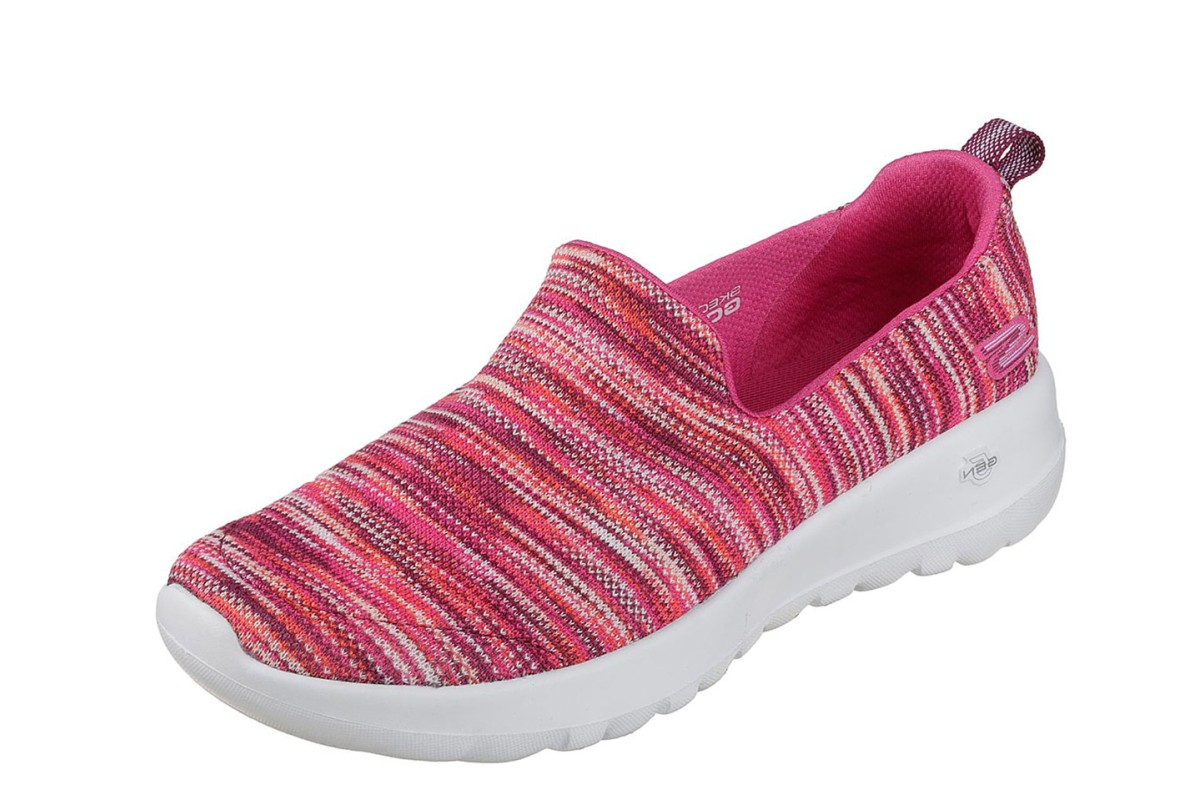 7864e12fee4fb Skechers Go Walk Joy Terrific Pink Multi Womens Slip On Comfort Shoes -  KissShoe