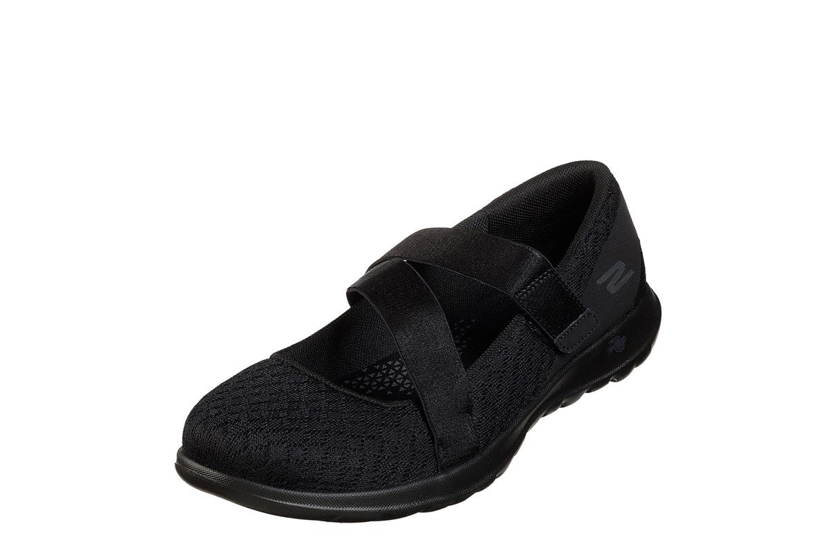 Skechers Go Walk Lite Divine Black Flat Comfort Shoes