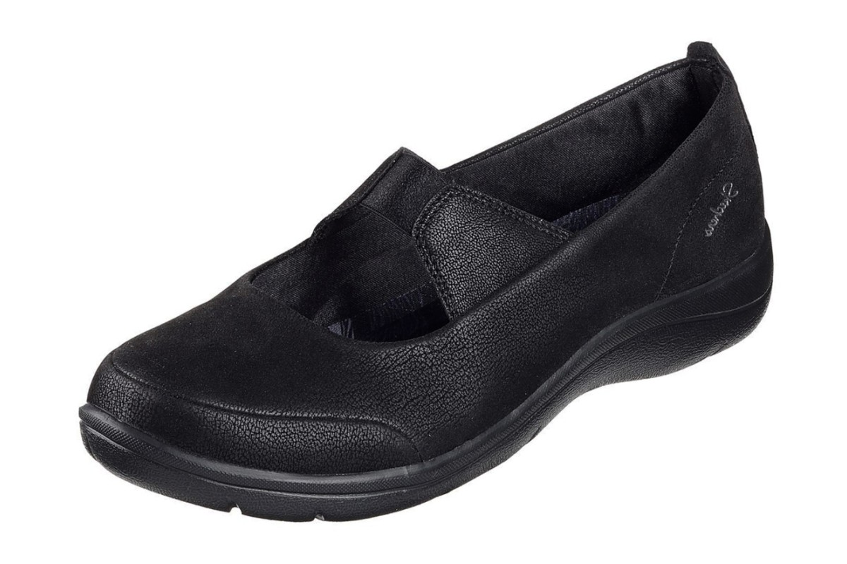 Skechers Lite Step Helium Black Memory Foam Flat Shoes
