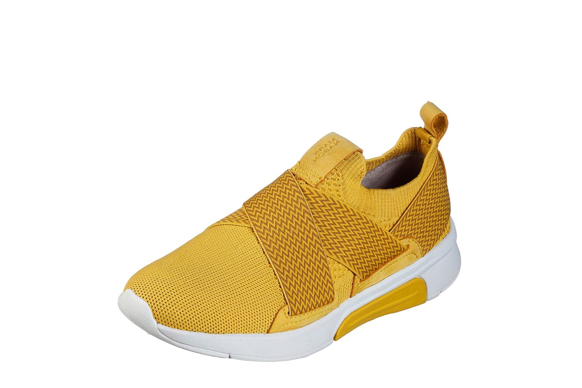 Skechers Mark Nason Modern Jogger Ziggy Yellow Mustard Memory Foam Trainers