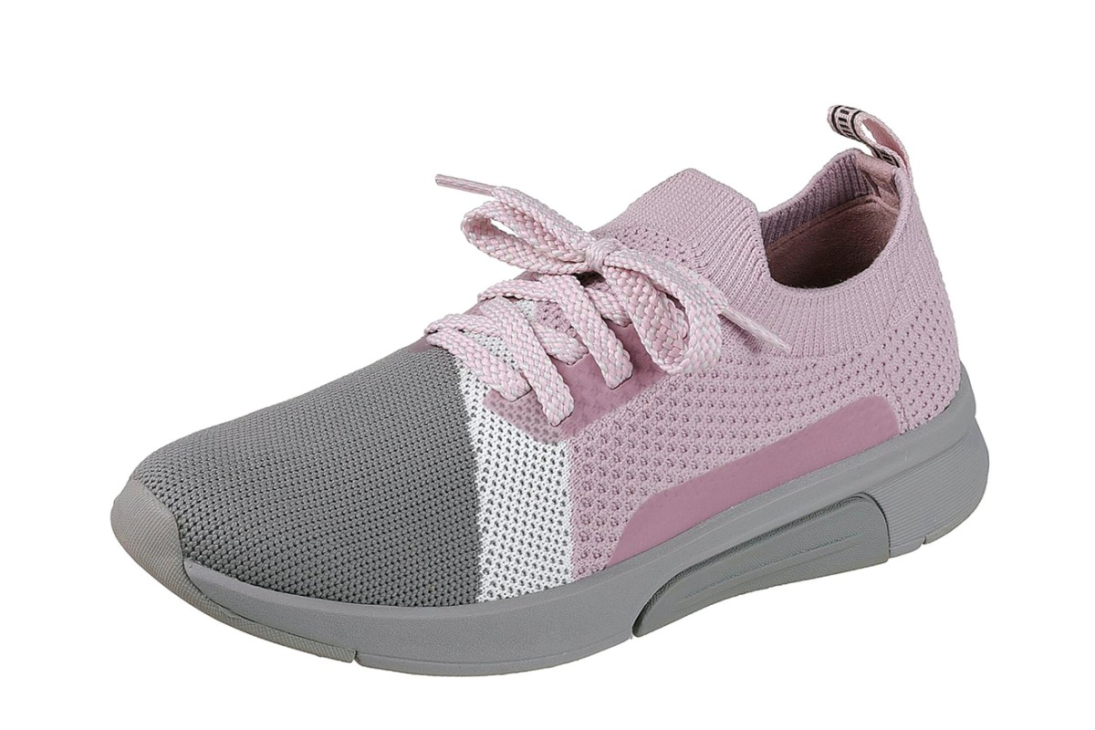 Skechers Mark Nason Sequoia Lilac Grey Memory Foam Trainers - KissShoe