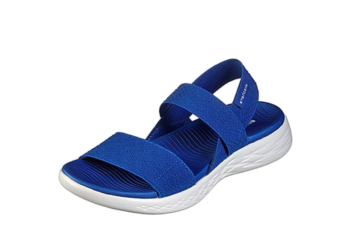 Skechers On The G0 600 Girls Trip Royal Blue Slingback Comfort Sandals