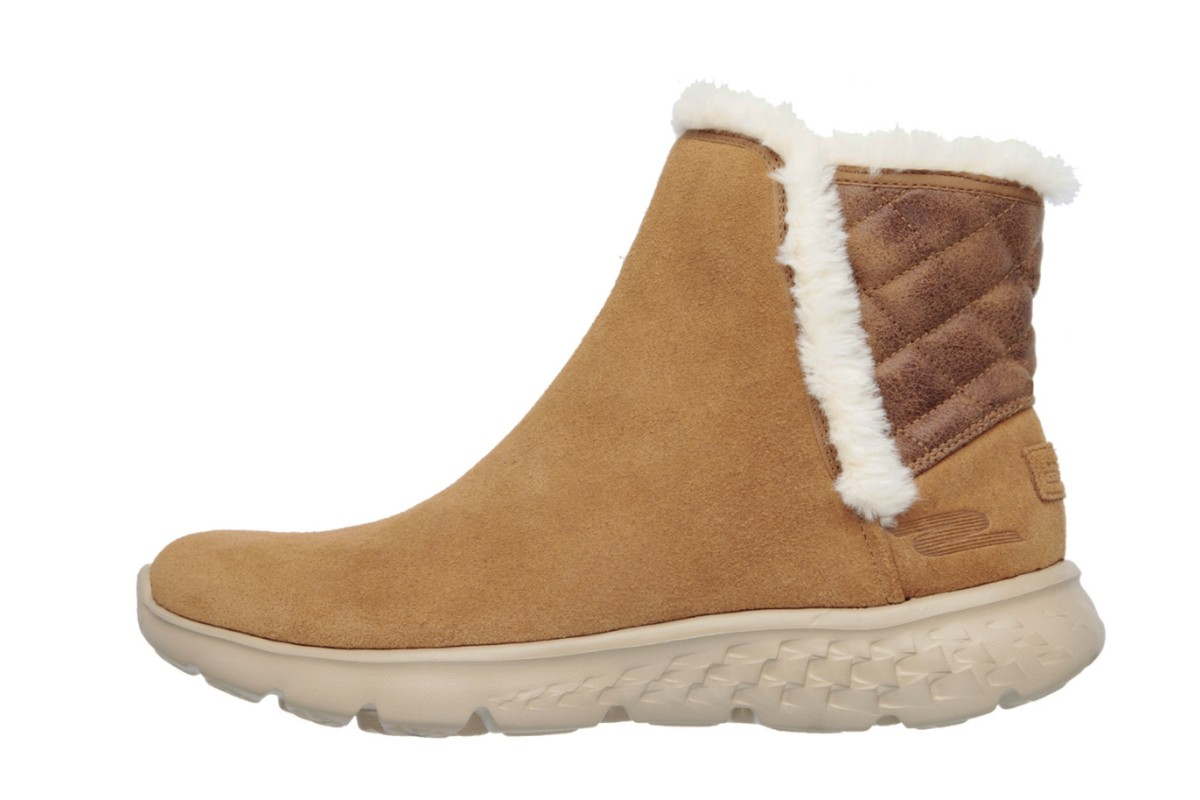 skechers on the go 400 cozies chestnut suede ankle boots