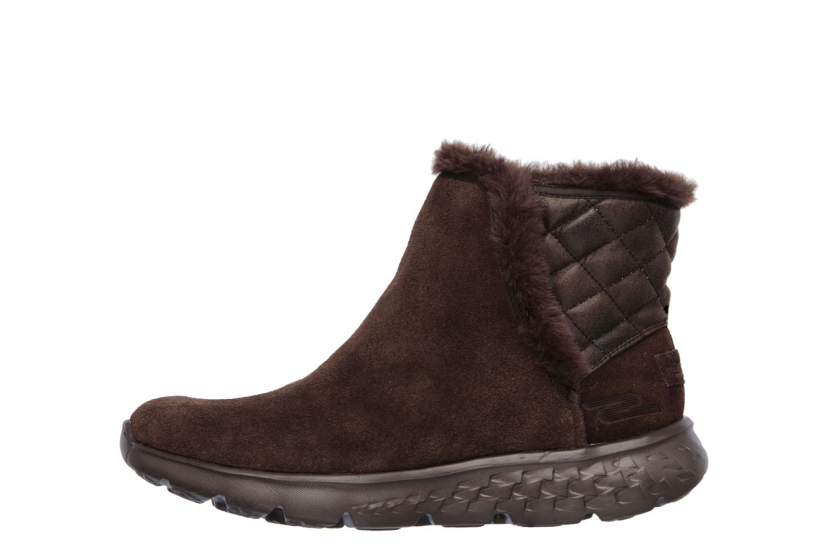 skechers on the go 400 cozies chocolate brown suede ankle