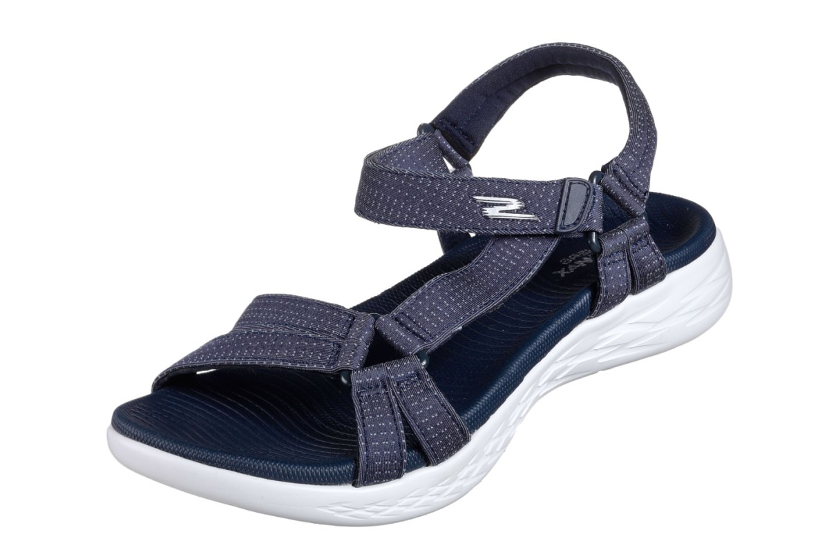 Skechers On The Go 600 Brilliancy Navy Women's Comfort Sandals