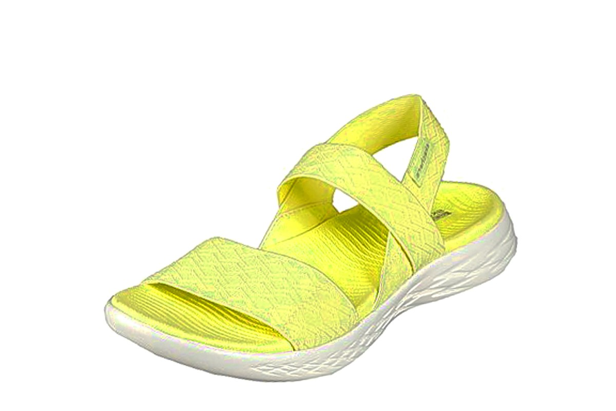 Skechers On The Go 600 Girls Trip Yellow Slingback Comfort Sandals