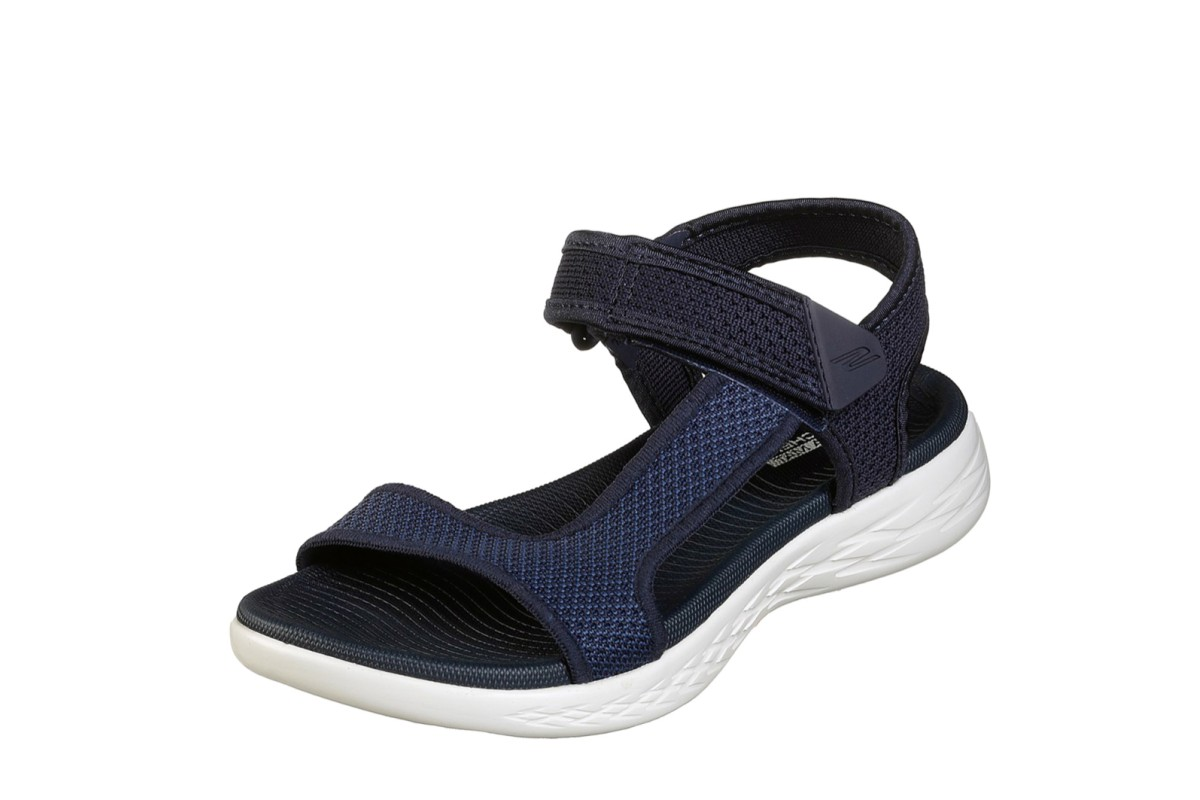 Skechers On The Go 600 Rubix Navy White Open Toe Comfort Sandals