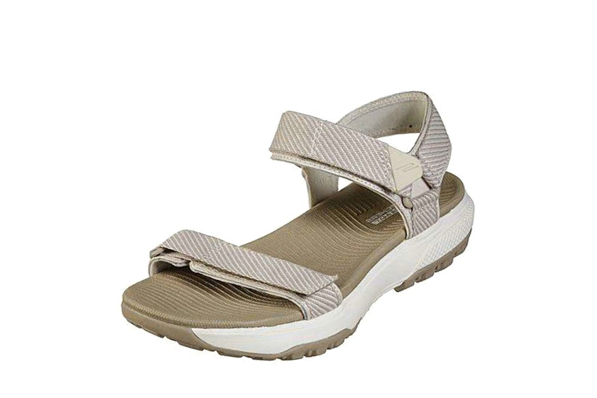 Skechers Outdoor Ultra Cherry Creek Taupe Beige Flat Comfort Walking Sandals