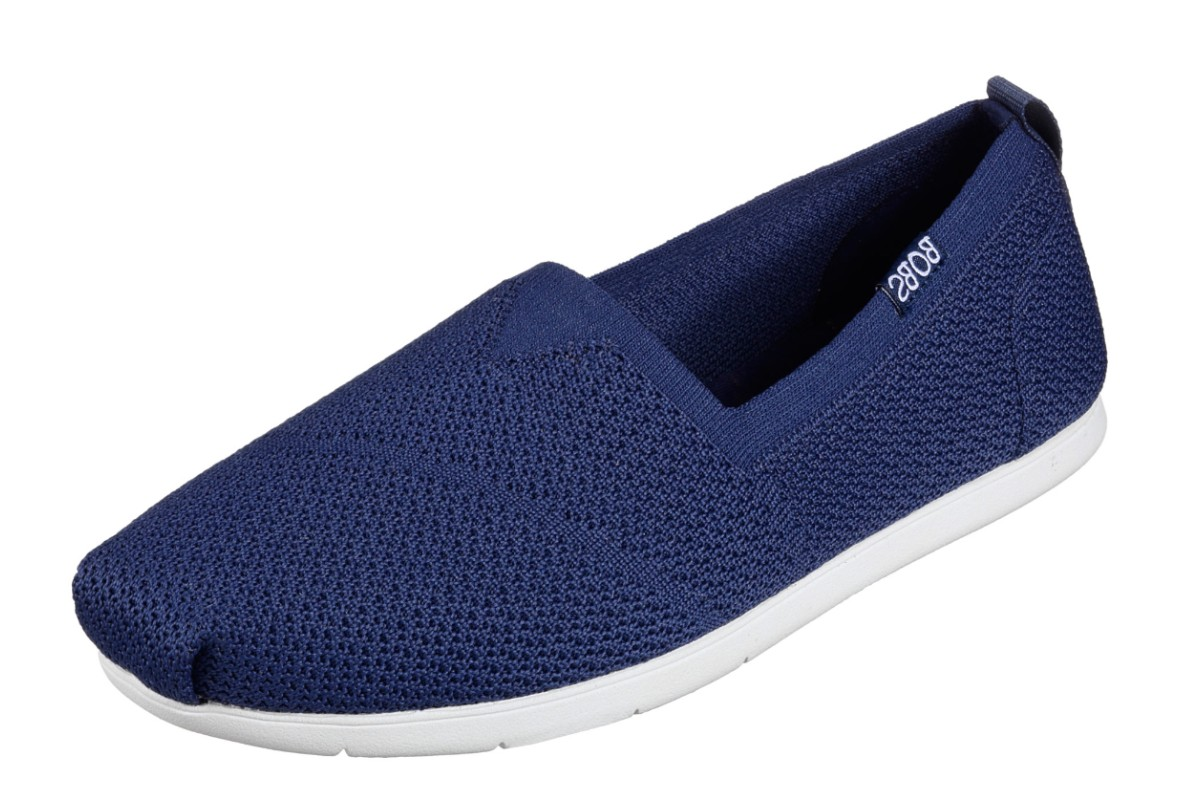 Skechers Plush Lite Custom Built Navy Memory Foam Flat Shoes