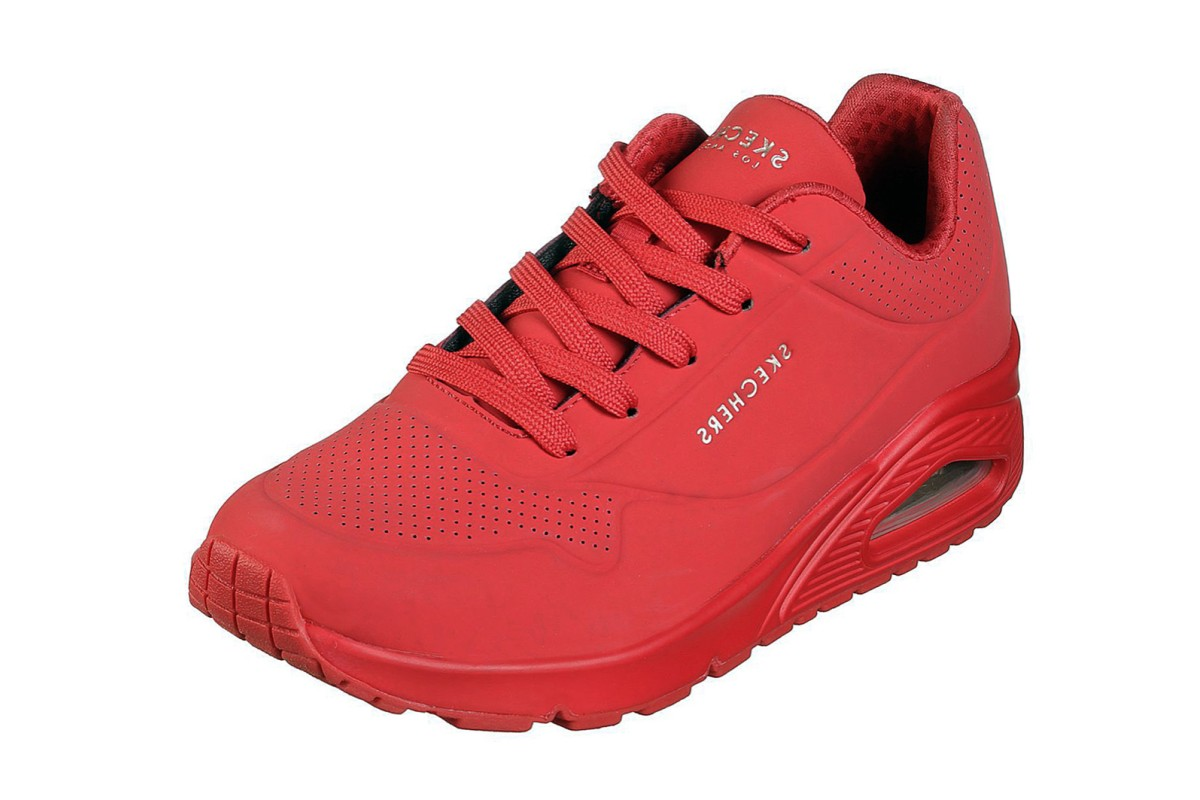 Skechers Street Uno Stand On Air Red Memory Foam Women's Trainers