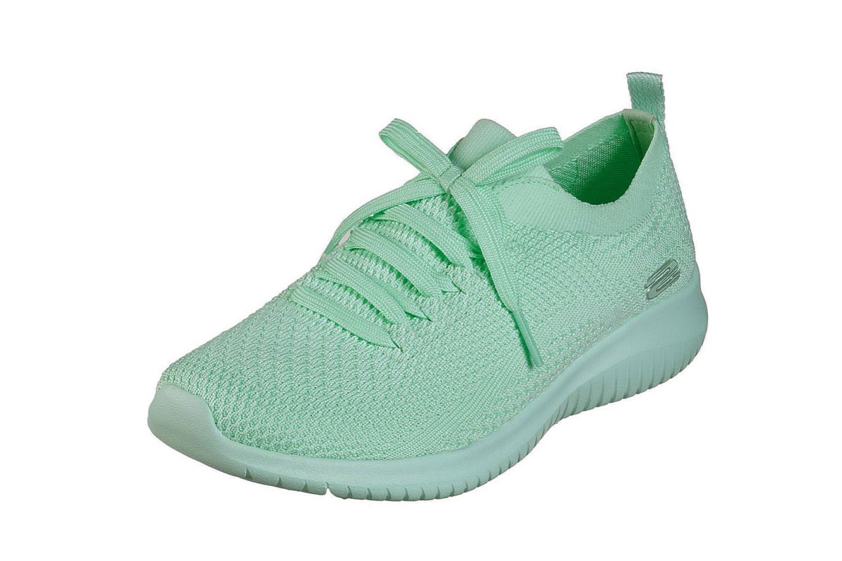 Adivinar Maestro Hecho de  Skechers Ultra Flex Pastel Party Mint Green Memory Foam Womens Trainers -  KissShoe