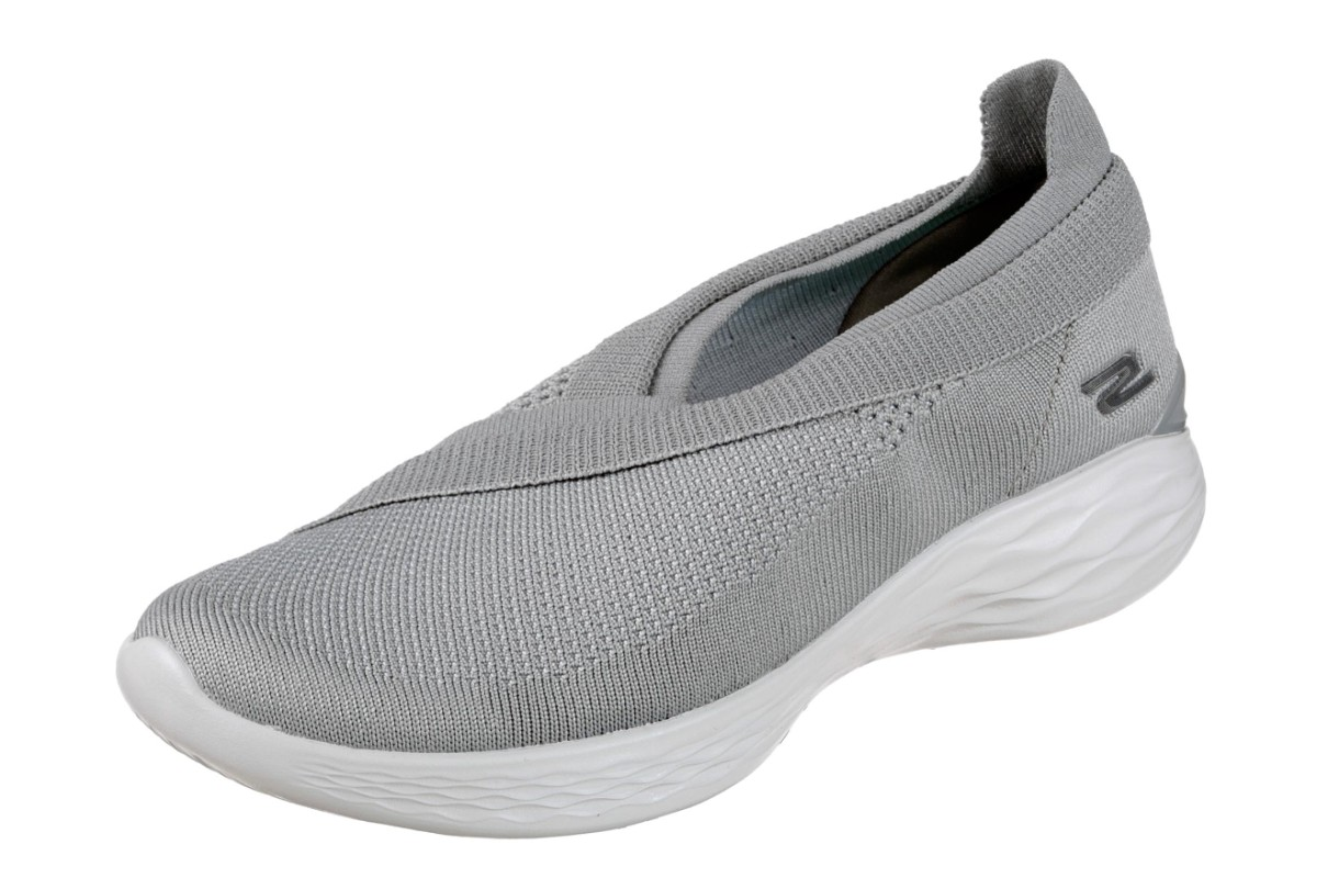 Skechers You Luxe Grey Slip On Women's Comfort Shoes