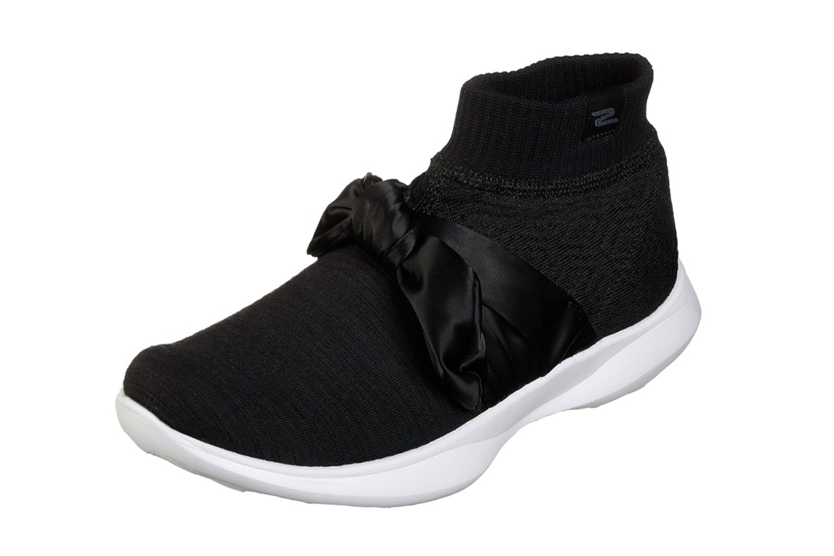 Skechers You Serene Contour Black White Comfort High Top Trainers Shoes