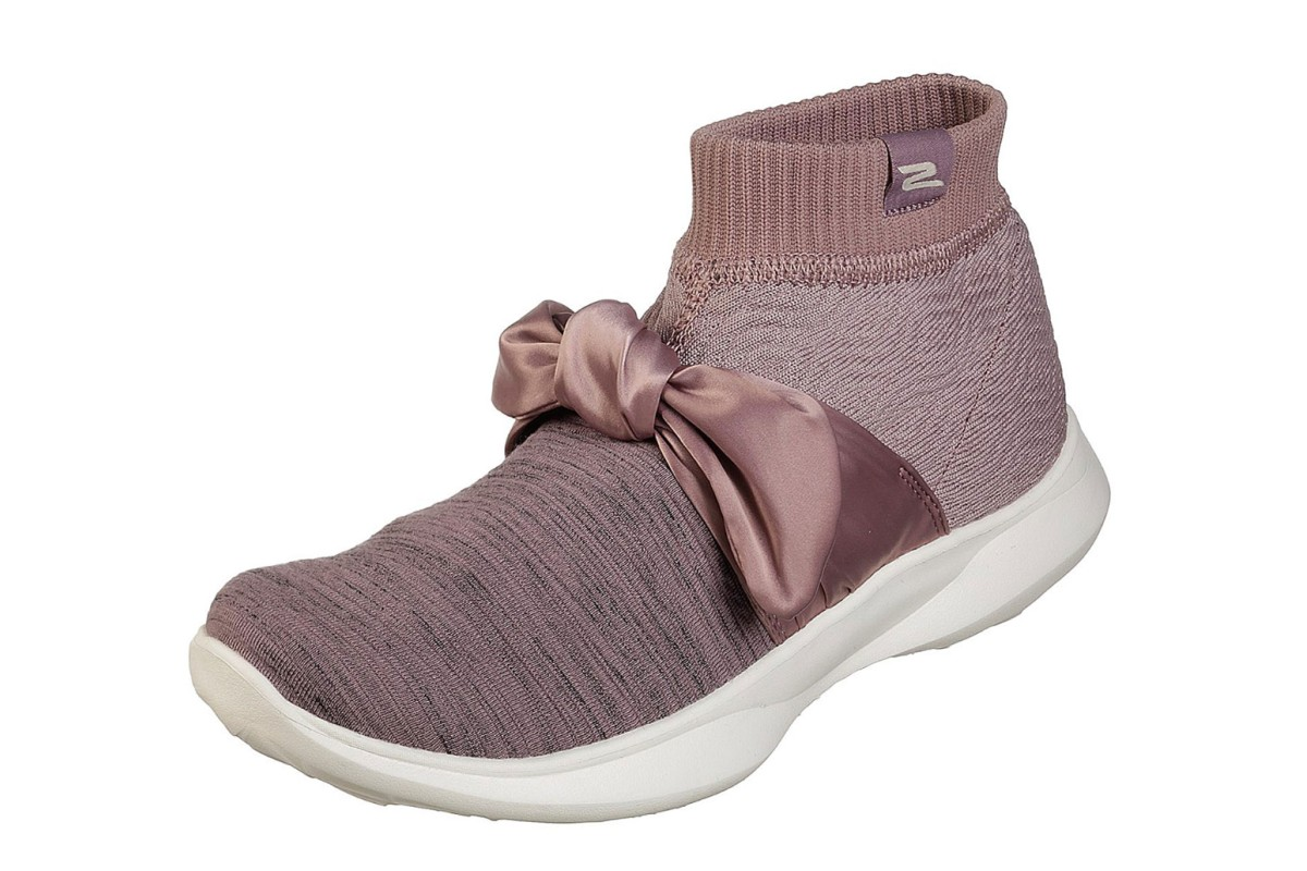 Skechers You Serene Contour Mauve Comfort High Top Trainers Shoes