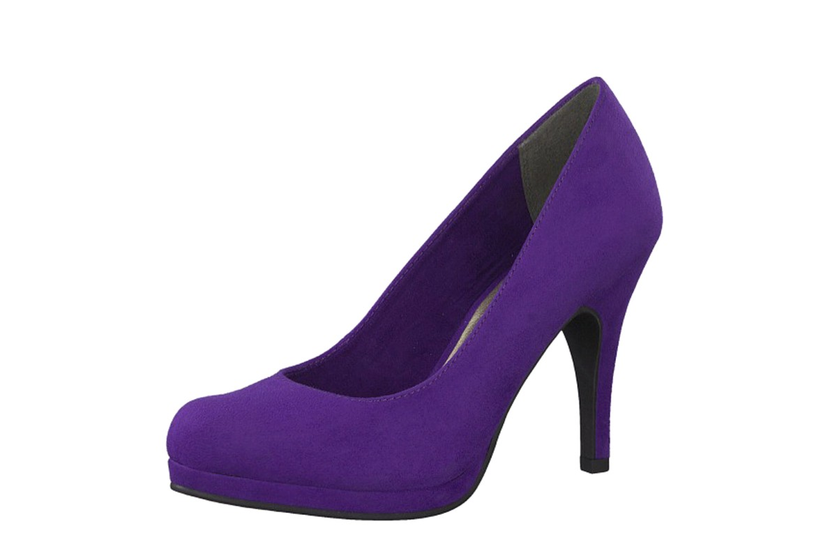 Tamaris 22407 Violet Purple Faux Suede High Heel Court Shoes